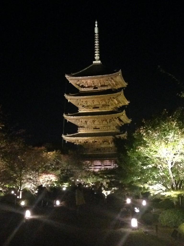 東寺のライトアップin2015の感想と混雑状況です!【速報】