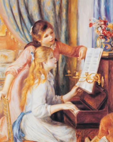 ピエールオーギュスト-ルノワール-ルノワールの「ピアノに寄る少女たち」
